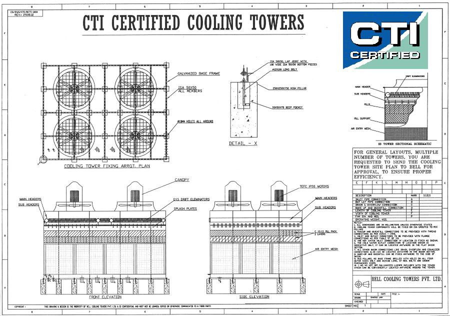 Technical Sheets Bell Cooling Towers